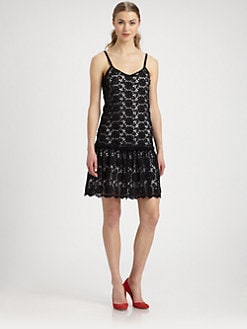 Alice + Olivia - Tatyana Floral Lace Dress