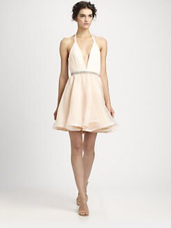 Alice + Olivia - Brooke Silk Halter Dress