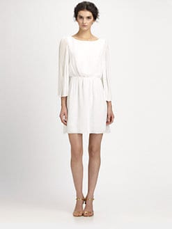 Alice + Olivia - Florence Pleated Silk Dress