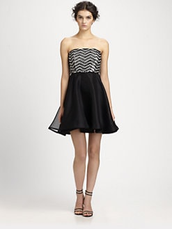 Alice + Olivia - Maeve Beaded Silk Dress
