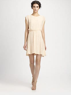 Alice + Olivia - Lisette Sequin Silk Dress