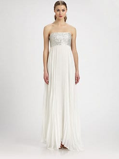 Alice + Olivia - Shira Silk & Sequin Maxi Dress