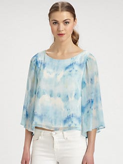 Alice + Olivia - Tie-Dyed Blouse