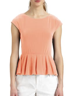 Alice + Olivia - Ella Peplum T-Shirt