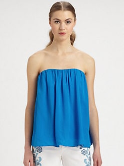 Alice + Olivia - Scarlet Strapless Silk Top