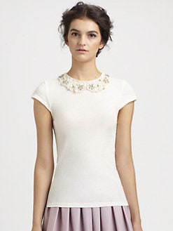 Alice + Olivia - Anja Embellish Top