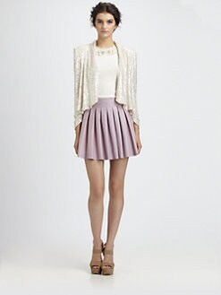 Alice + Olivia - Wheeler Sequin Silk Jacket