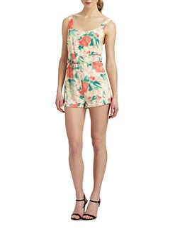 Alice + Olivia - Naleigh Floral Short Jumpsuit