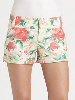 Alice + Olivia - Cady Floral Shorts