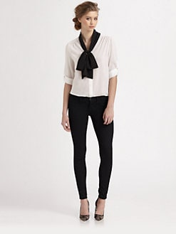 Alice + Olivia - Arie Stretch Silk Blouse