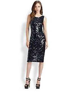 Alice + Olivia - Garbo Sequin Sheath Dress