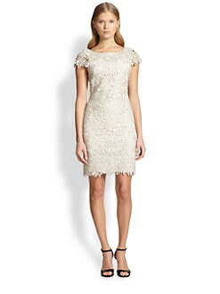 Alice + Olivia - Clover Lace Sheath Dress