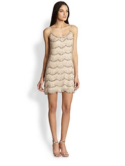 Alice + Olivia - Wes Embellished Silk Mini Dress