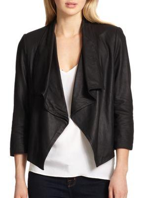 Draped Leather Jacket