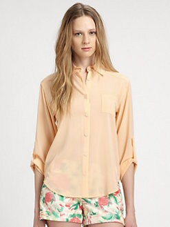 Alice + Olivia - Piper Stretch Silk Blouse