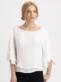 Alice + Olivia - Silk Hampton Top