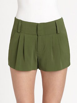 Alice + Olivia - Anders Pleated Shorts