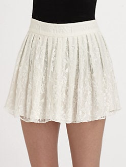 Alice + Olivia - Rei Lace Mini Skirt
