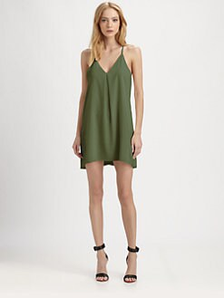 Alice + Olivia - Fierra Stretch Silk Dress