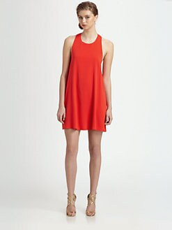 Alice + Olivia - Liz Stretch Silk Twist Dress