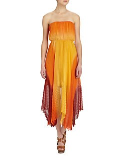 Alice + Olivia - Uma Strapless Midi Dress