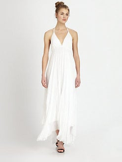 Alice + Olivia - Bade Silk Halter Dress