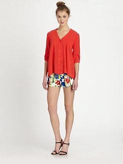 Alice + Olivia - Colby Silk Shirt