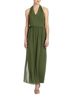 Alice + Olivia - Mora Silk Halter Dress