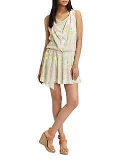 Alice + Olivia - Sally Floral-Print Silk-Rich Dress