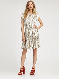 Alice + Olivia - Genevieve Leopard-Print Silk Dress