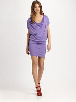 Alice + Olivia - Draped Cowlneck Dress
