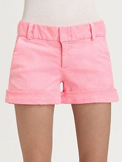 Alice + Olivia - Cady Cotton-Rich Cuff Shorts