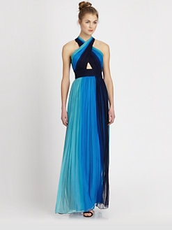 Alice + Olivia - Jaelyn Crisscross Maxi Dress