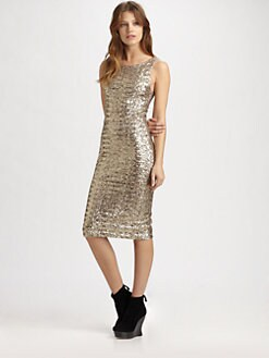 Alice + Olivia - Dara Sequined Sheath Dress