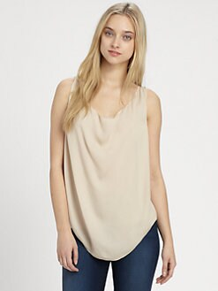 Alice + Olivia - Madelyn Silk Cowlneck Top