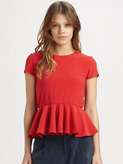 Alice + Olivia - Nero Peplum Top