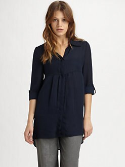 Alice + Olivia - Woodley Silk Tunic Top