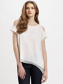 Alice + Olivia - Silk Open Shoulder Top