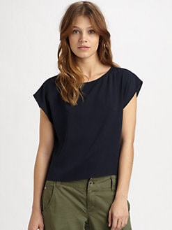 Alice + Olivia - Boxy Silk Tee