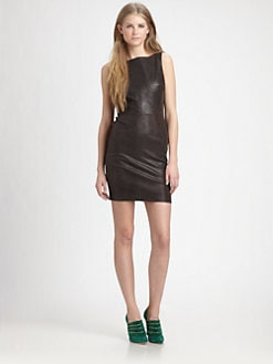 Alice + Olivia - Terie Leather Dress