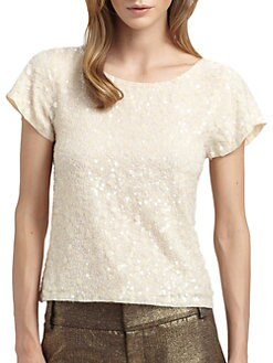 Alice + Olivia - Winnie Sequined Top