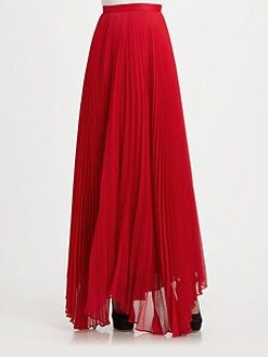 Alice + Olivia - Shannon Pleated Maxi Skirt