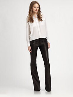 Alice + Olivia - Leather Bell Pants