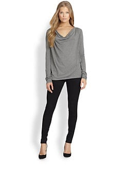 Alice + Olivia - Heathered Cowlneck Top