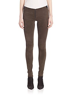 Alice + Olivia - Suede Legging Pants