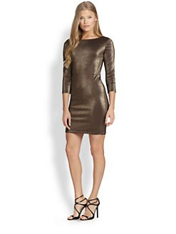 Alice + Olivia - Cameo Metallic Cutout Dress