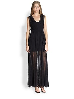 Alice + Olivia - Sami Silk Lace Dress