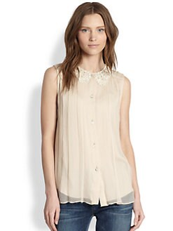 Alice + Olivia - Kai Silk Shirt