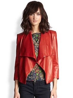 Alice + Olivia - Colton Leather Jacket
