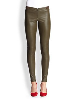 Alice + Olivia - Leather Skinny Pants